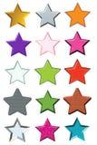 ställ in stjärnor Royaltyfri Bild