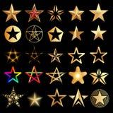 ställ in stjärnor stock illustrationer