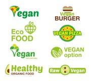 Ställ in strikt vegetarianlogoen Royaltyfri Fotografi