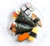 ställ in sushi Royaltyfri Foto