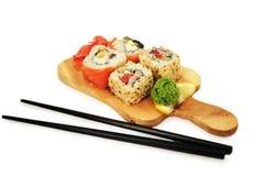 ställ in sushi Royaltyfri Fotografi