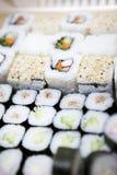 ställ in sushi Arkivbild