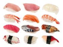 ställ in sushi Arkivfoto