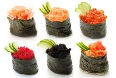 ställ in sushi Arkivbilder