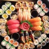 ställ in sushi Arkivfoton