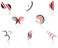 ställ in symboler Arkivbild