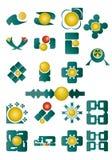ställ in symboler Arkivbilder