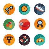 Ställ in symboler av sporten och hälsan Arkivbild