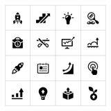 Ställ in symboler av starten Arkivbilder