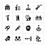 Ställ in symboler av svetsning vektor illustrationer