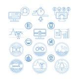 Ställ in symboler och pictogramen vektor illustrationer