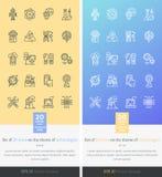 Ställ in symboler på temat av modern teknologi Royaltyfri Foto