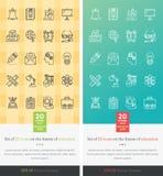 Ställ in symboler på temat av utbildning Royaltyfri Fotografi