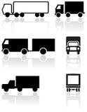 ställ in symbolet lastbil skåpbil vektor Royaltyfri Bild