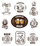 Ställ in symbolsöl stock illustrationer