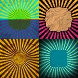 Ställ in tappning färgad strålbakgrund EPS10 vektor Royaltyfri Bild