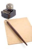 ställ in tappningwriting Arkivfoton