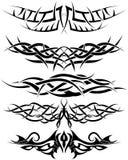 ställ in tatueringar vektor illustrationer
