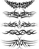 ställ in tatueringar Arkivbilder