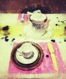 ställ in tea arkivfoton