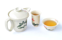 ställ in tea Royaltyfria Bilder