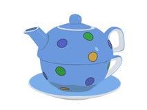 ställ in tea stock illustrationer