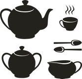 ställ in tea Arkivbild