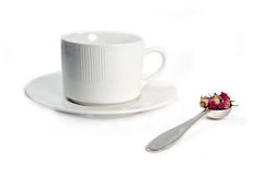 ställ in tea Arkivfoto