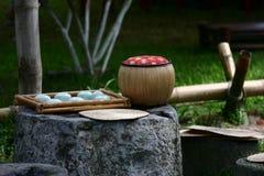 ställ in tea vietnam Royaltyfri Fotografi