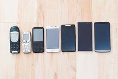 Ställ in telefoner Arkivbild