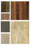 ställ in texturer trä Royaltyfri Bild