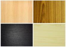 ställ in texturer wood Arkivbilder