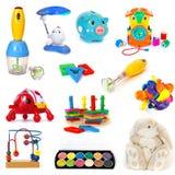 ställ in toys royaltyfria bilder