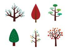 ställ in treen Fotografering för Bildbyråer