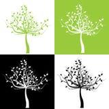 ställ in trees Royaltyfria Bilder