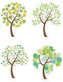 ställ in trees Arkivbilder