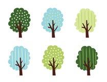 ställ in treevektorn Royaltyfria Foton