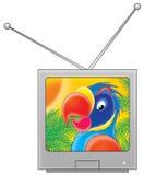 ställ in tv:n royaltyfri illustrationer