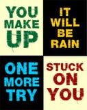 Ställ in typografi för affischen, T-tröja, vektor Fotografering för Bildbyråer