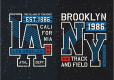 Ställ in typografidesignt-skjortan grafisk Fotografering för Bildbyråer