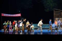 Ställ upp för att rösta den Jiangxi operan en besman Arkivfoto