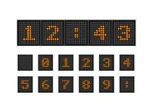 Ställ in vektorPIXELnummer av belysningkulan stock illustrationer