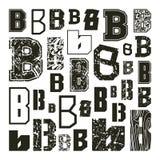 Ställ in versioner av bokstäver B Arkivfoton