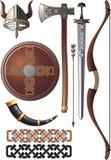 ställ in viking stock illustrationer