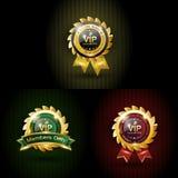 Ställ in vip med färg tre Royaltyfria Bilder