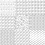 Ställ in vit geometrisk textur Vektorbakgrund kan användas i räkningsdesignen, bokdesignen, websitebakgrund, CD räkningen, advert vektor illustrationer