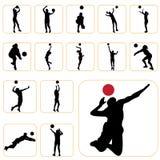 ställ in volleyboll Fotografering för Bildbyråer