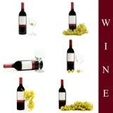 ställ in wine Arkivfoto