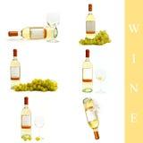 ställ in wine Fotografering för Bildbyråer