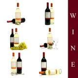 ställ in wine Royaltyfria Bilder